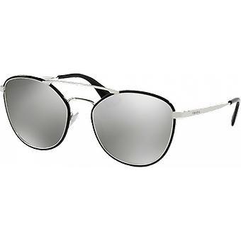 Prada SPR63T Black/Silver Grey Miroité Silver