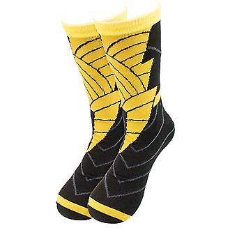 Zwart Adam kostuum bemanning sokken