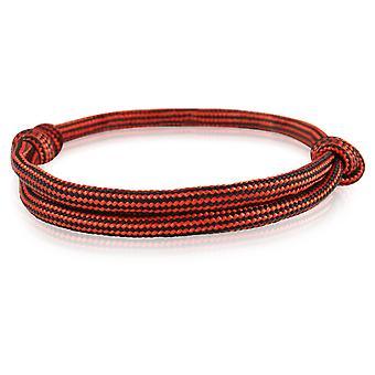 Skipper bracelet surfeur bande nœud maritimes bracelet nylon rouge/noir 6915