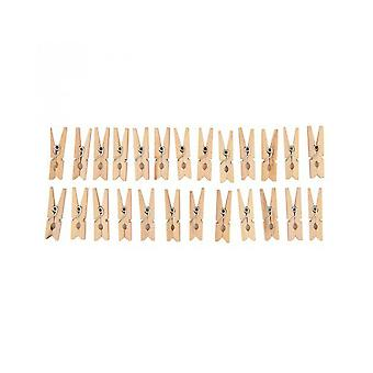 24 Mini 3cm Natural Wooden Clothes Mini Pegs   Wooden Shapes for Crafts