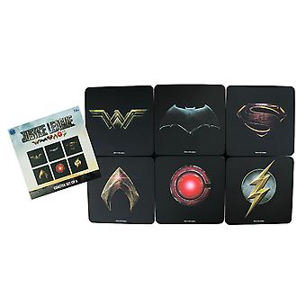 Justice League Movie Full Team Logo Coaster Set of 6