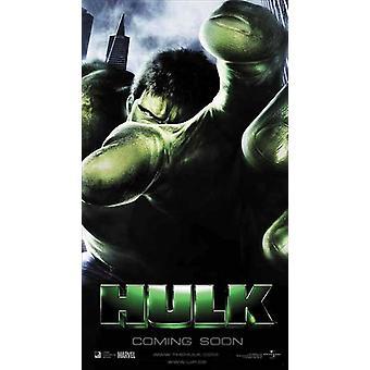 The Hulk (Double Sided Advance Uk One Sheet) Original Cinema Poster