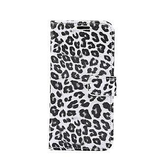 iPhone 11 Plånboksfodral Fodral Leopard - Vit