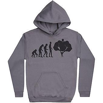 Evolution till en bodybuilder-mens hoodie