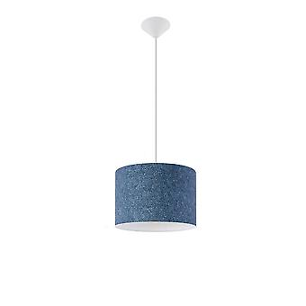 Sollux 1 Light Cylindrical Ceiling Pendant Multi-Color SL.0550