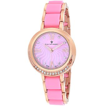 Christian Van Sant Women's Eternelle Pink MOP Dial Watch - CV7613