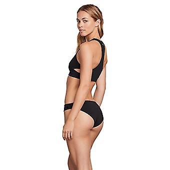 Volcom Women's Junior's Simply Seamless Classic Full Bikini Bottom, Black, Ex...