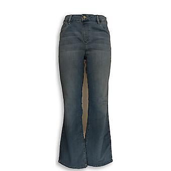 Laurie voelde vrouwen ' s jeans zijdeachtige denim Boot Cut blauw A295339