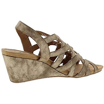 Style & Co. Womens Muletta Metallic Strappy Wedge Sandals
