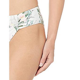 Athena Women's Shirr Side Hipster Mayo Bikini Alt, Boyalı Doğa Mult...