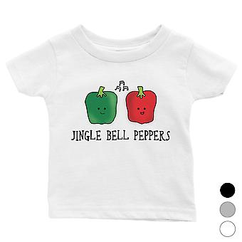Jingle Bell Peppers cool baby skjorte julegave