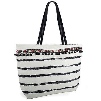Sokker Uwear damer Stripe maling Print halm sommer strand Bag