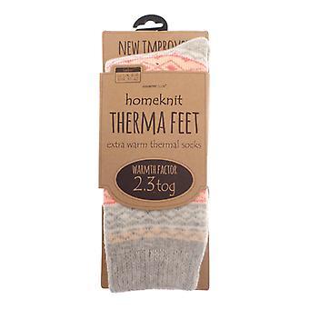Homeknit termiczne damskie skarpety UK 4-8, Grey