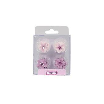 Culpitt Lilac Flower Sugar Pipings - Pack Of 12