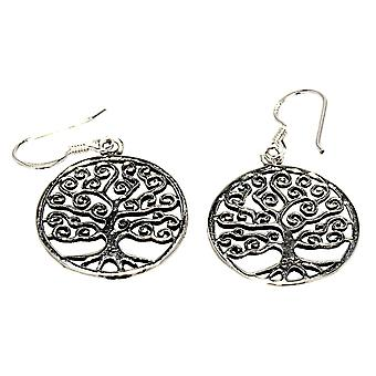 Earring 14 tree of life - silver