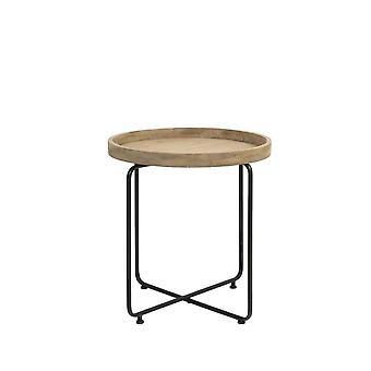 Light & Living Side Table 60x65cm Antigua Metal Black And Wood