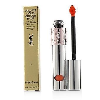 Baume de couleur liquide Yves Saint Laurent Volupte - 5 Watch Me Orange 6ml/0.2oz