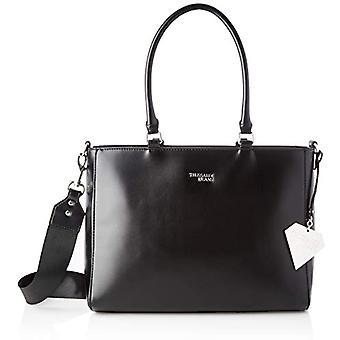 Trussardi Jeans T-Easy Diamond Tote LG Bag Dia Black Women's Bag (Black) 14x28x35 cm (W x H x L)