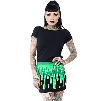 Kreepsville 666 Slime Green Mini Skirt
