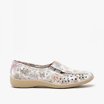 Boulevard Marsha Ladies Cut-out Slip-on Shoes Multi Floral