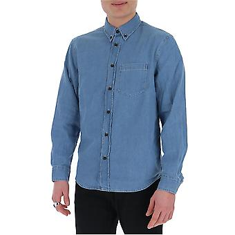 Acne Studios Bb0186lightblue Men's Camisa de algodón azul claro