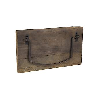 Rustic Weathered Wood and Metal Wall Mounted Towel Holder