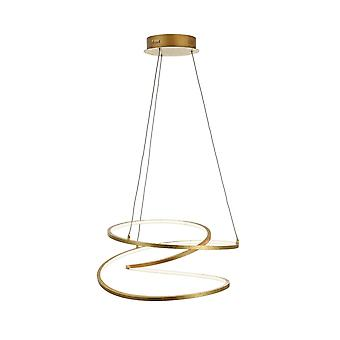 WOFI Loris Moderno 48 Watts Teto iluminado em ouro acabamento 6395.01.15.7300