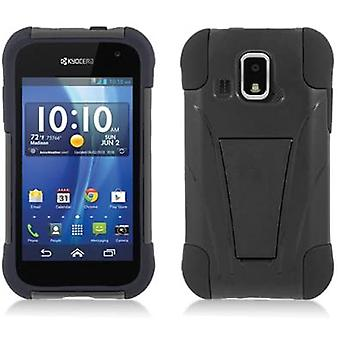 Aimo Kickstand Case voor Kyocera Hydro XTRM - Black Skin/Black Cover
