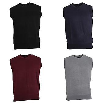 Pierre Roche Mens Plus Size V-Neck Sweater Vest