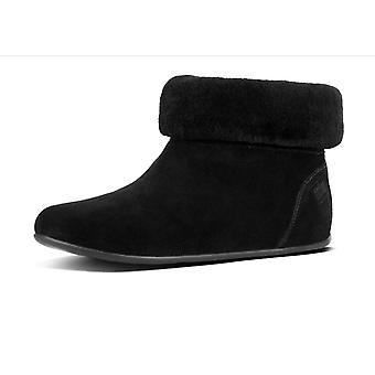 FitFlop Sarah™ Shearling Slipper Booties In Black