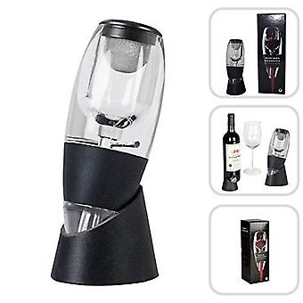 Wine Aerator Decanter With Base For Red Wine Black- Pourer Diffuser Wine Gift Gadget