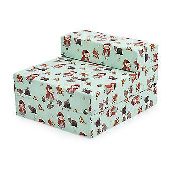 Bereit Steady Bed Kinder Kinder Falten Aussleepover Z Bett Sofa | Kleinkind einzelne Klappstuhl | Ideal für Spielzimmer Schlafzimmer Wohnzimmer | Leicht & bequem (Kleinrot)