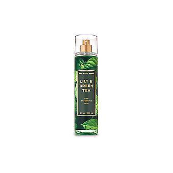 (2 Pack) Bath & Body Works Lily & Green Tea Fine Fragrance Mist 8 fl oz / 236 ml