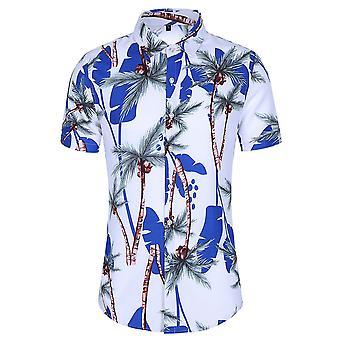 Allthemen Men's nyomtatott pólók Hawaiian Summer Beach felsők
