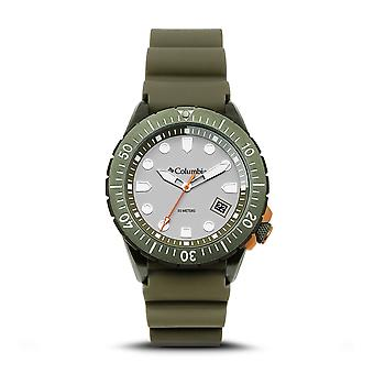 Columbia CSC04-004 Mens Pacific Outlander Green Silicone Wristwatch