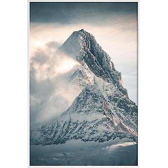 JUNIQE Print - Silver Linings by @noberson - Mountains Poster in Grey & White