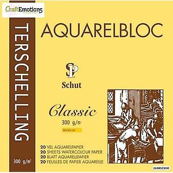 Schut Terschelling Watercoloured pad Classic 30x30cm 300 gram - 20 sheets