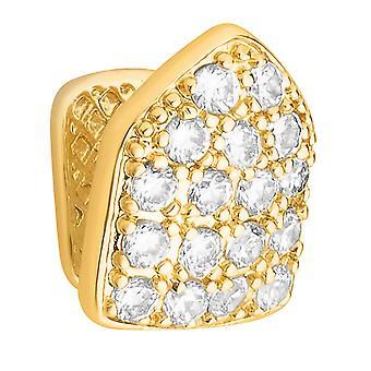 Один 12x10mm bling плесень кубический цирконий гриль - золотые зубы Cap