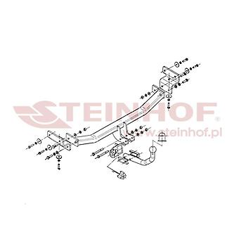 Steinhof Towbar (fixes 2 boulons) pour Hyundai i30 Hatchback 2007-2011