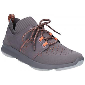 Hush Puppies World Mens Textile Trainers Dark Grey
