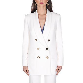 Elisabetta Franchi Gi94701e2360 Mulheres's Blazer Viscose Branco