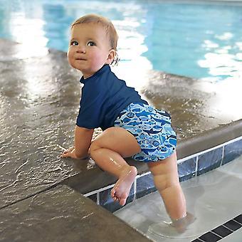 ألعب. بيبي بويز التقط حفاضات ملابس السباحة الماصة القابلة لإعادة الاستعمال، الأزرق تحت سطح البحر، 12مليون