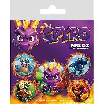 Spyro reignited caractere Pin Button Insigne Set