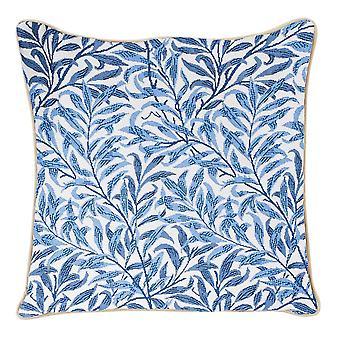 William morris willow bough cushion cover | blue floral cushion 18x18 cm | ccov-wiow