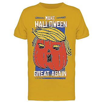 Halloween Great Again Pumpkin Men's T-shirt