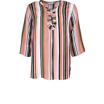 Masai Clothing Dayna Blush Candy Striped Top