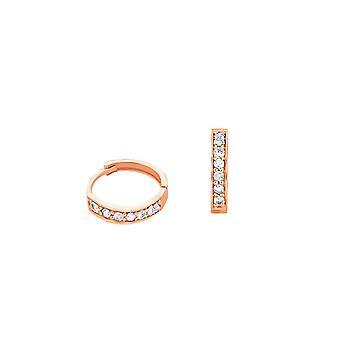 Baby Cercei Hoops Full Diamonds și 18K Gold