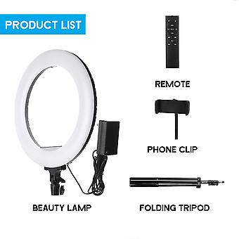 Controllable portable 2.1m 14 inch ring light led makeup ring lamp usb selfie ring lamp phone holder tripod stand photography lighting (2)