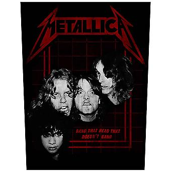 Metallica Back patch Bang That Head Band Logo new Official sew on 36cm x 29cm
