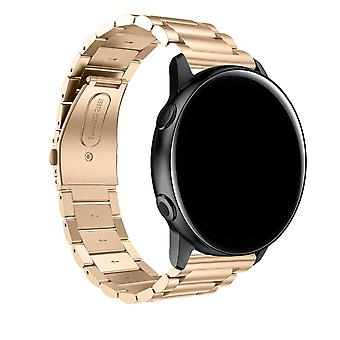 Galaxy Watch Active2 40mm Bracelet Steel Links Rose Gold Butterfly Clasp